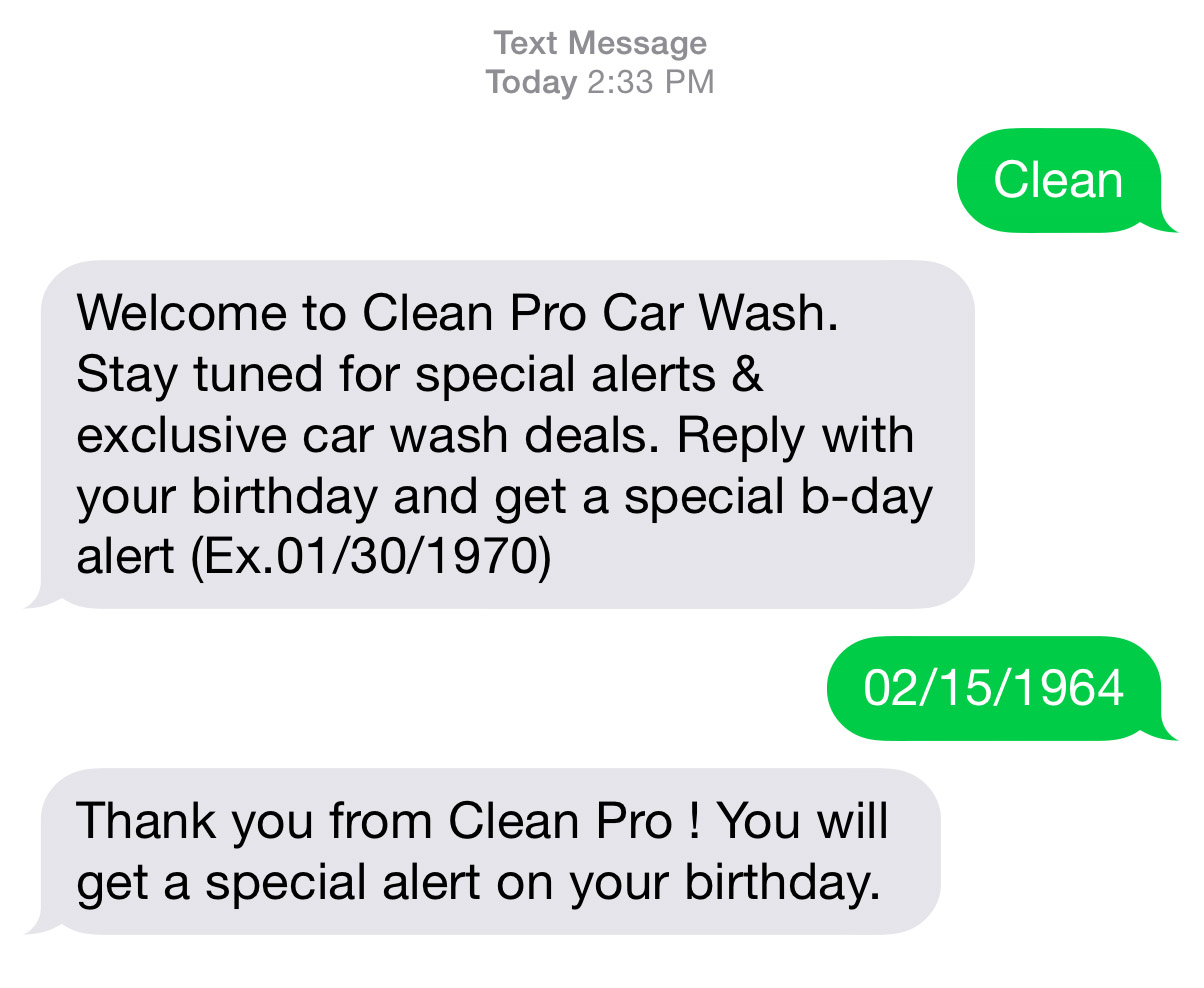 Text Messaging For Car Washes