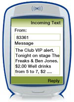 Within seconds, your customers are notified of your text message